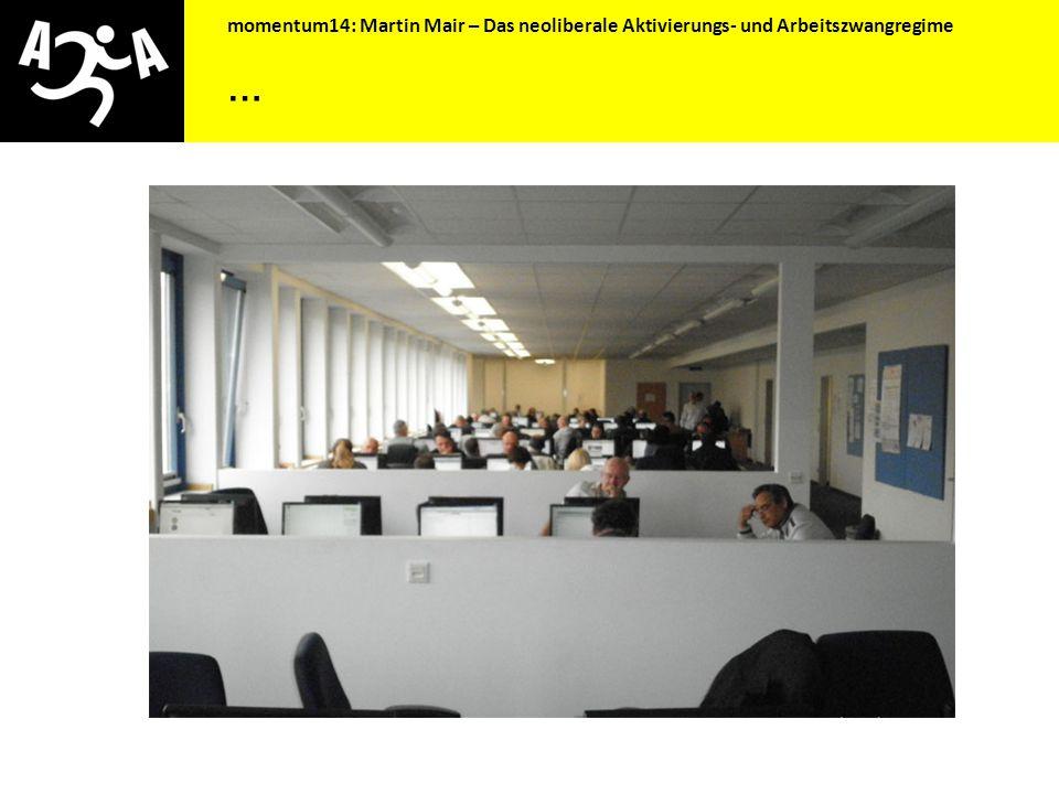 momentum14: Martin Mair – Das neoliberale Aktivierungs- und Arbeitszwangregime … und die Statistik stimmt wieder