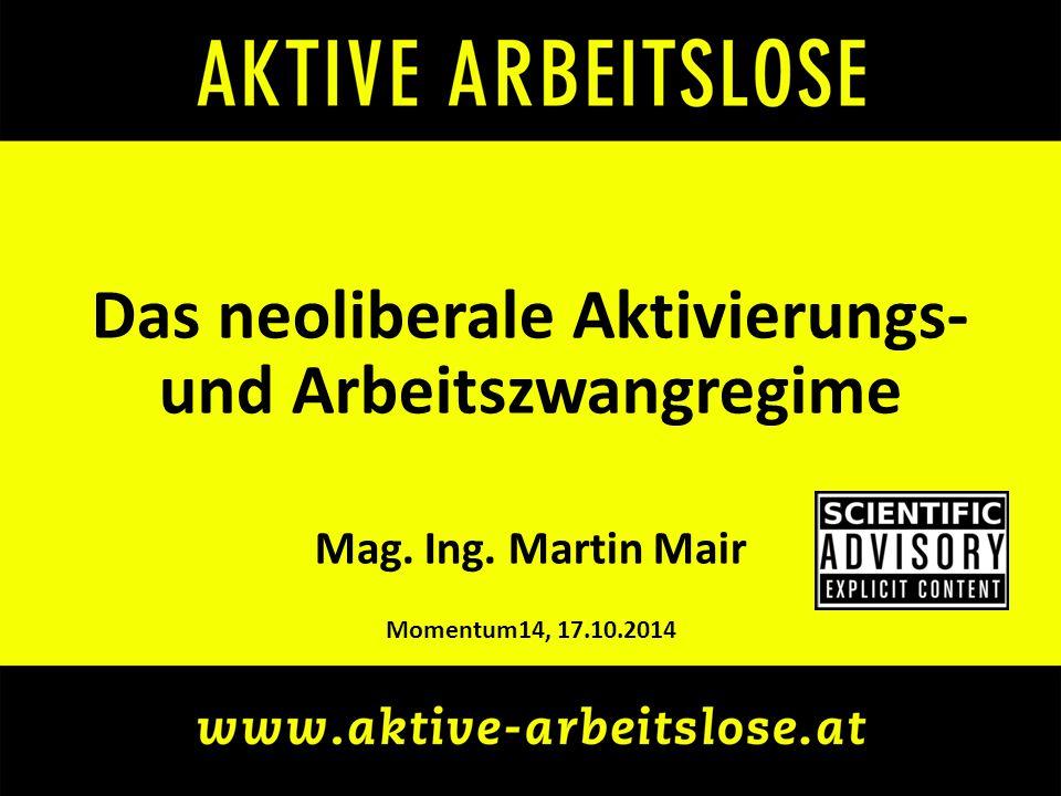 momentum14: Martin Mair – Das neoliberale Aktivierungs- und Arbeitszwangregime