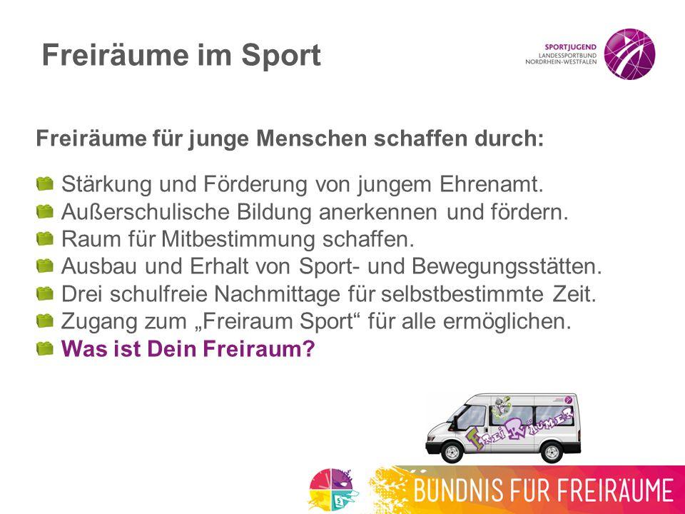 Das passiert mit Deinem Stein Jetzt Du unterschreibst Wirst Freiräumer/in 2015 Werden mindestens 15.000 Steine bei der Sportjugend NRW gesammelt.