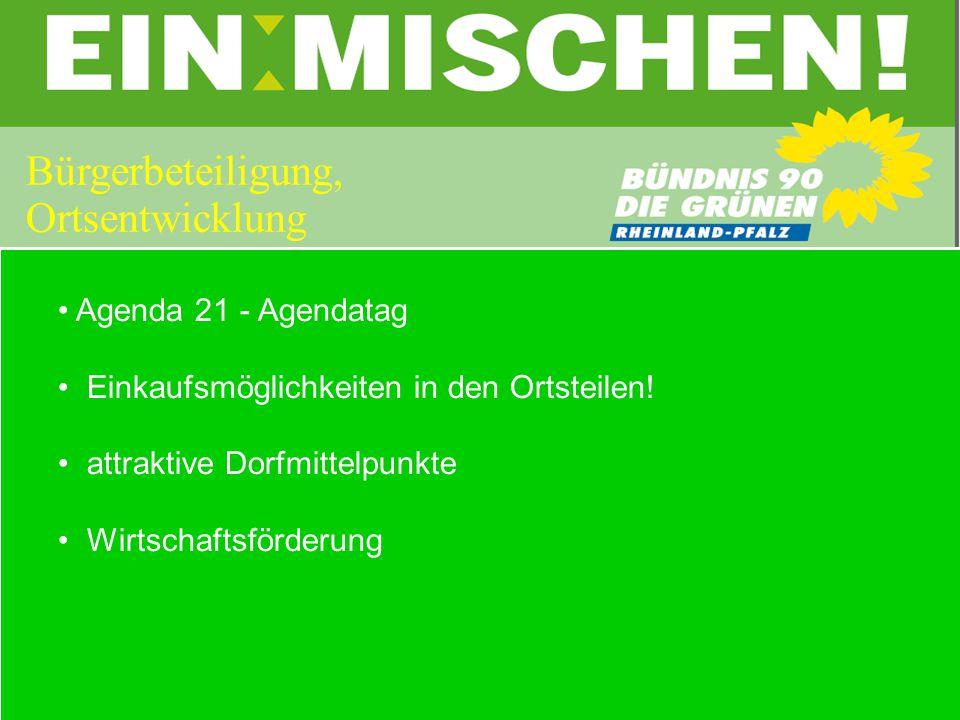 Agenda 21 - Agendatag Einkaufsmöglichkeiten in den Ortsteilen.