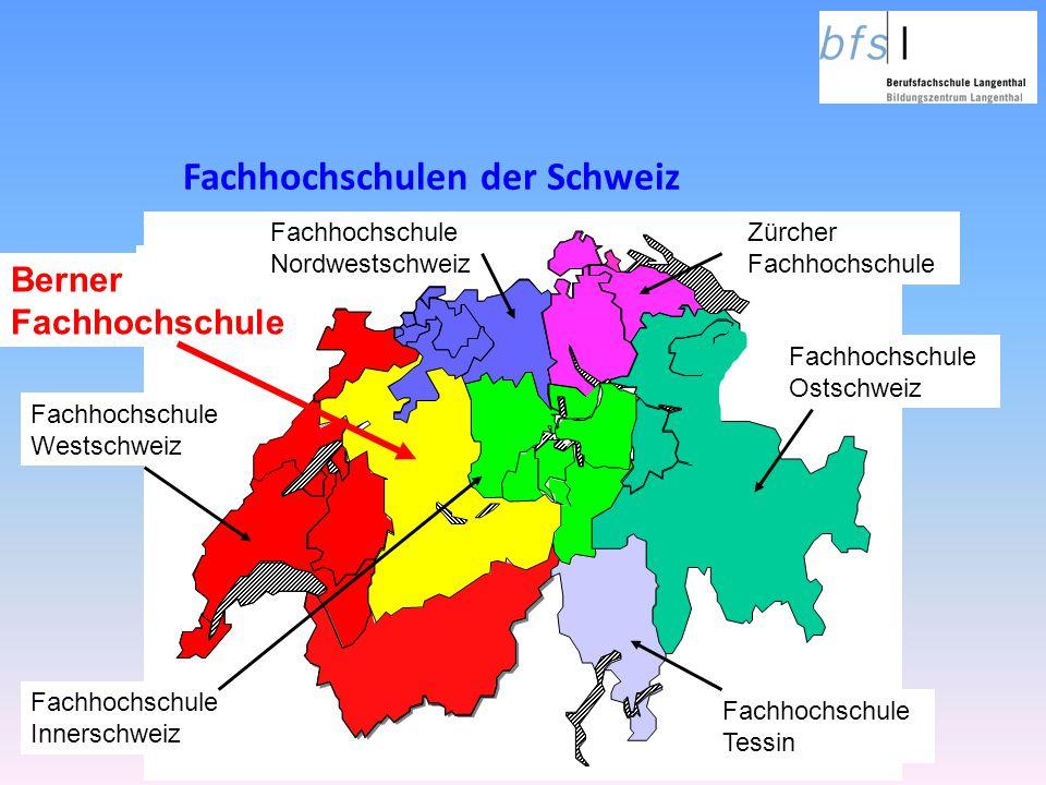 Fachhochschulen der Schweiz Fachhochschule Westschweiz Zürcher Fachhochschule Fachhochschule Ostschweiz Fachhochschule Tessin a Berner Fachhochschule