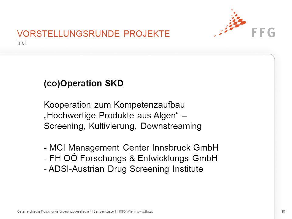 """VORSTELLUNGSRUNDE PROJEKTE (co)Operation SKD Kooperation zum Kompetenzaufbau """"Hochwertige Produkte aus Algen"""" – Screening, Kultivierung, Downstreaming"""