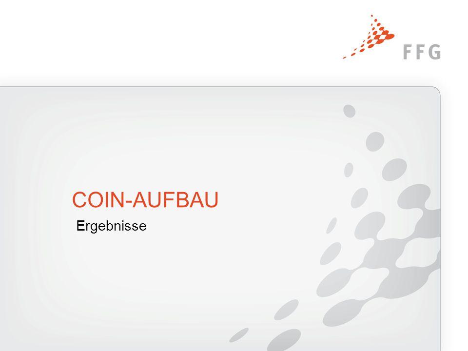 Ergebnisse COIN-AUFBAU