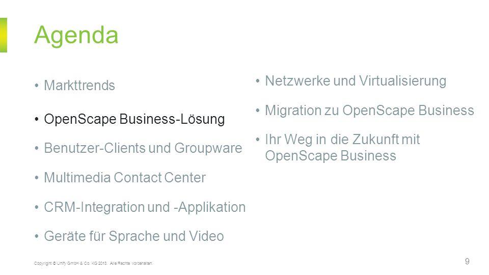 Umfassendes Angebot an UC-fähigen Geräten und Voice-Clients 30 Copyright © Unify GmbH & Co.