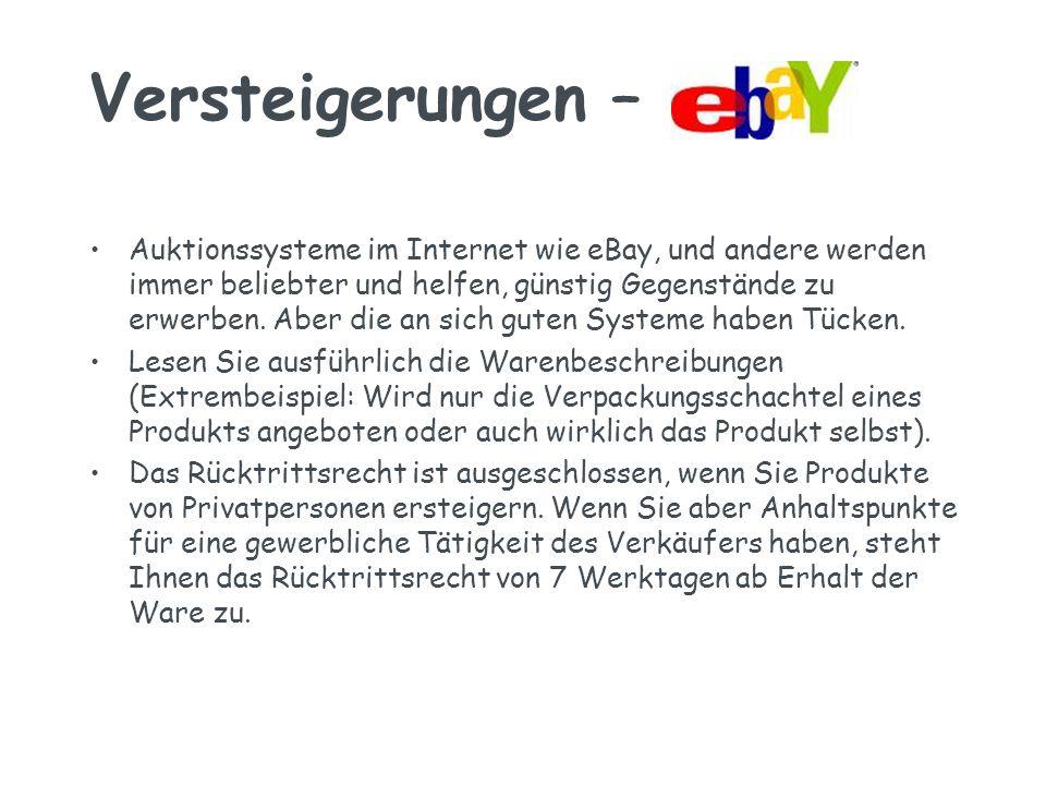 Versteigerungen – Auktionssysteme im Internet wie eBay, und andere werden immer beliebter und helfen, günstig Gegenstände zu erwerben.