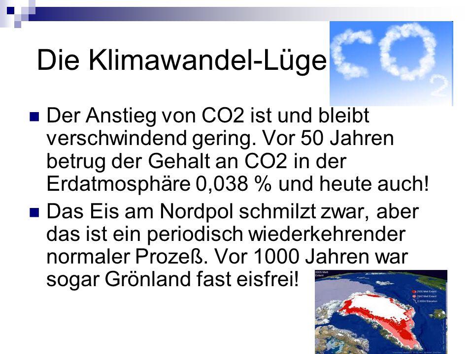 Die Klimawandel-Lüge Der Anstieg von CO2 ist und bleibt verschwindend gering.
