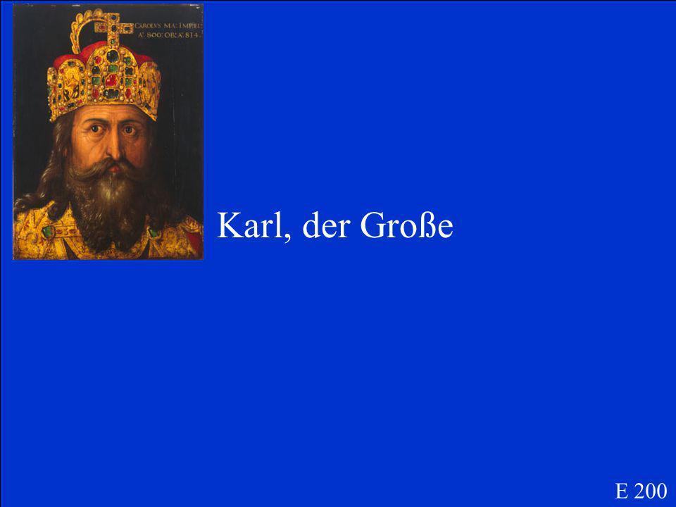 Wer hat das Römische Reich gegründet, dass später Deutschland wurde E 200