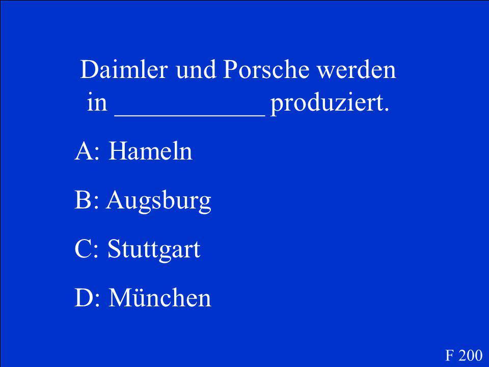 D. Hamburg F 100