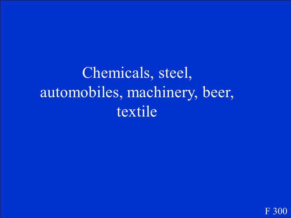 Deutsche Industrie ist…..