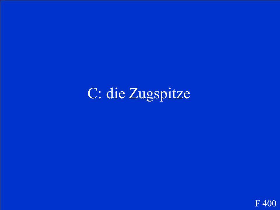 Der höchste Berg in Deutschland ist.....
