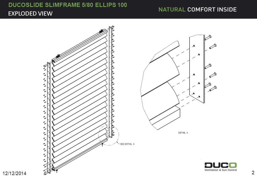 DUCOSLIDE SLIMFRAME 5/80 ELLIPS 100 EXPLODED VIEW 12/12/2014 2