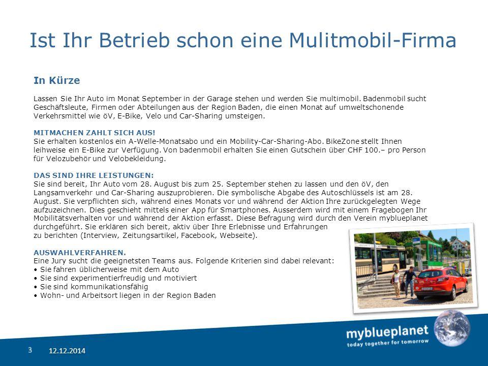 Ist Ihr Betrieb schon eine Mulitmobil-Firma In Kürze Lassen Sie Ihr Auto im Monat September in der Garage stehen und werden Sie multimobil.
