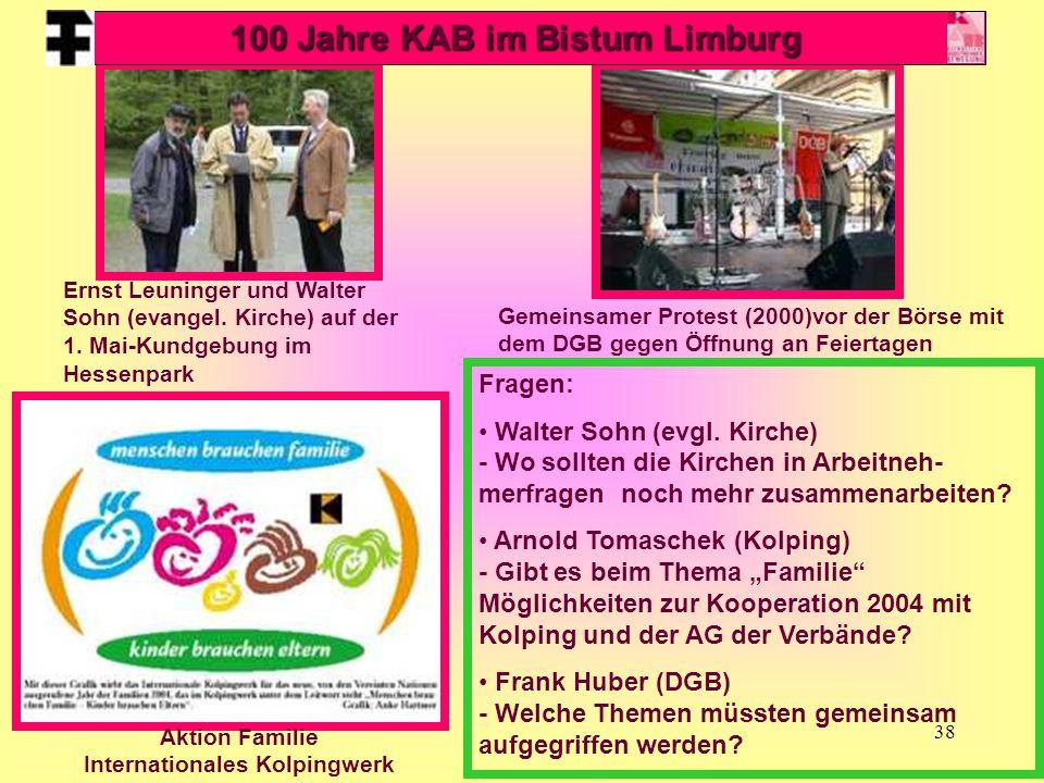 38 Ernst Leuninger und Walter Sohn (evangel. Kirche) auf der 1. Mai-Kundgebung im Hessenpark Gemeinsamer Protest (2000)vor der Börse mit dem DGB gegen