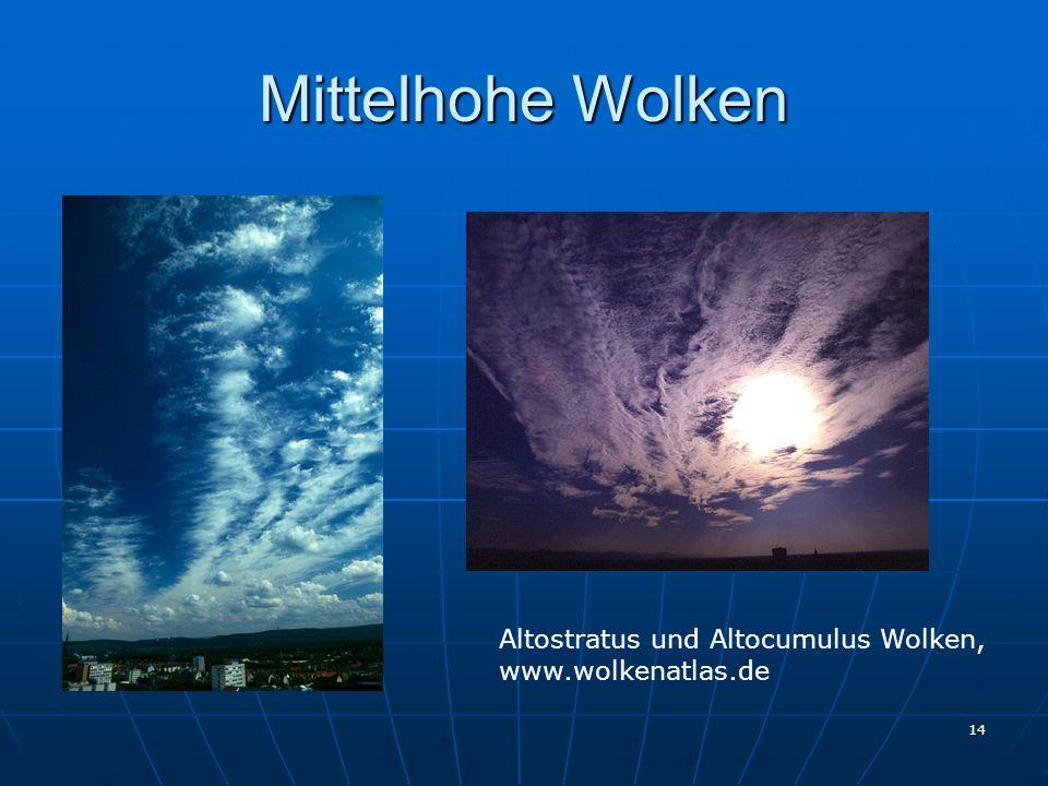 14 Mittelhohe Wolken Altostratus und Altocumulus Wolken, www.wolkenatlas.de