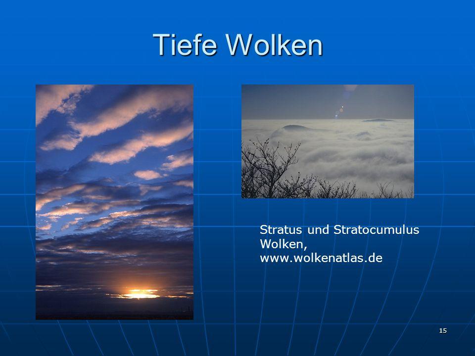15 Tiefe Wolken Stratus und Stratocumulus Wolken, www.wolkenatlas.de