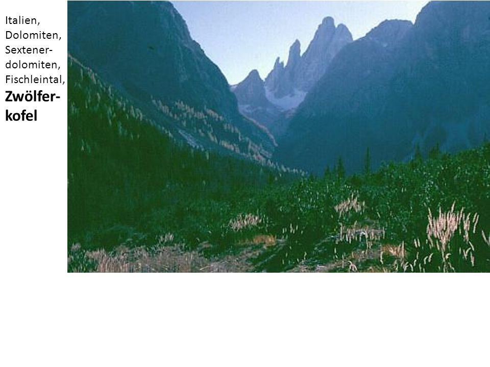 Italien, Dolomiten, Sextener- dolomiten, Fischleintal, Zwölfer- kofel