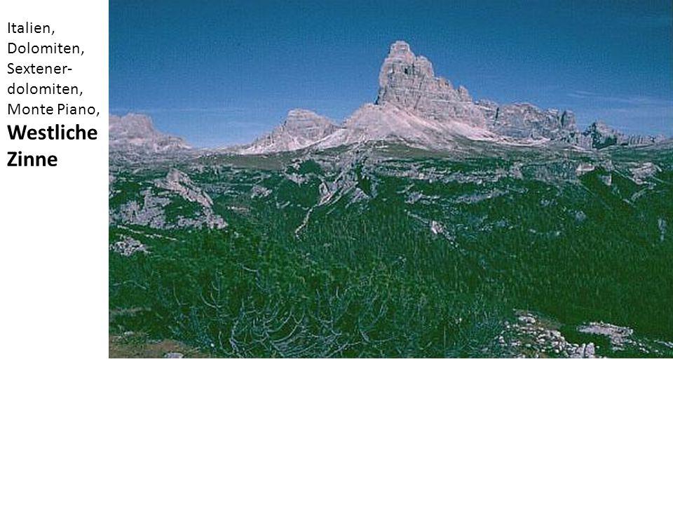 Italien, Dolomiten, Sextener- dolomiten, Monte Piano, Westliche Zinne