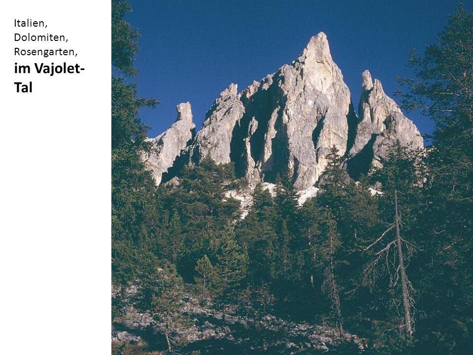 Italien, Dolomiten, Rosengarten, im Vajolet- Tal