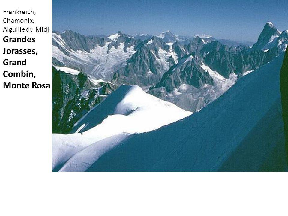 Frankreich, Chamonix, Aiguille du Midi, Grandes Jorasses, Grand Combin, Monte Rosa