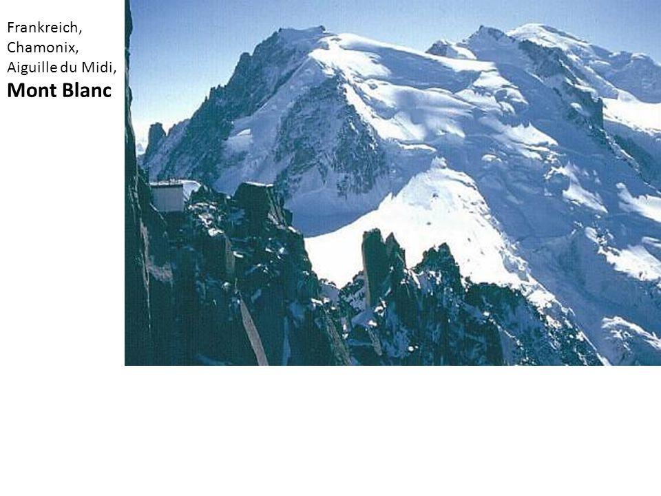 Frankreich, Chamonix, Aiguille du Midi, Mont Blanc
