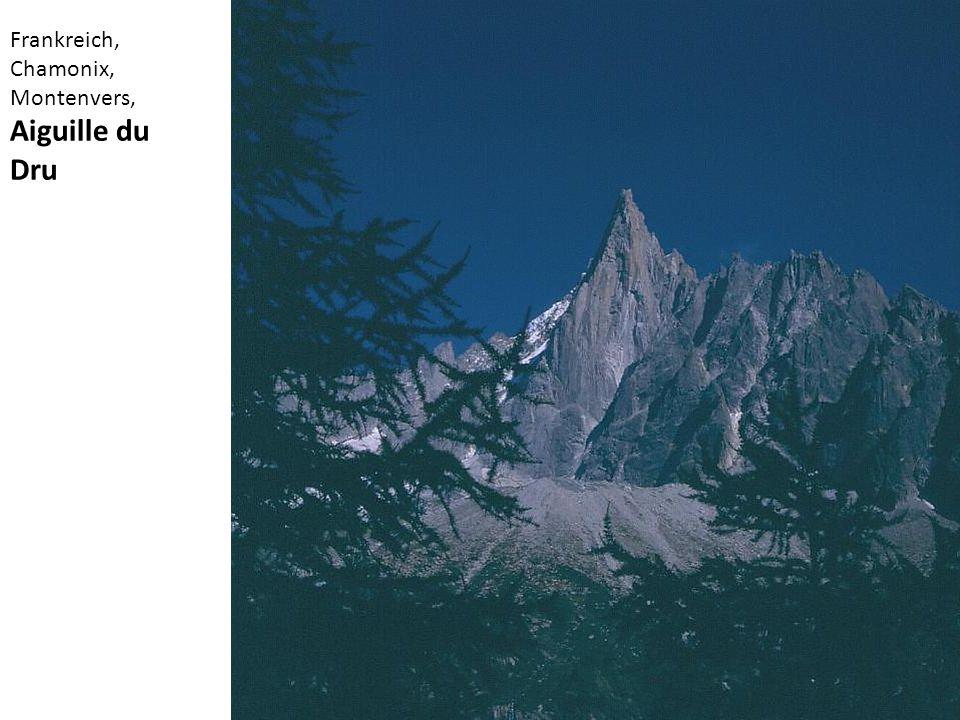 Frankreich, Chamonix, Montenvers, Aiguille du Dru