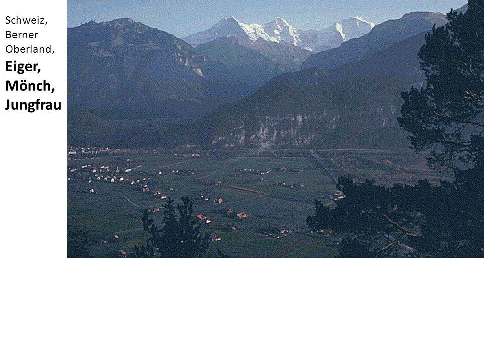 Schweiz, Berner Oberland, Eiger, Mönch, Jungfrau