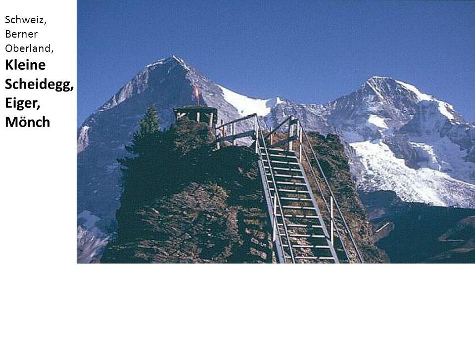 Schweiz, Berner Oberland, Kleine Scheidegg, Eiger, Mönch