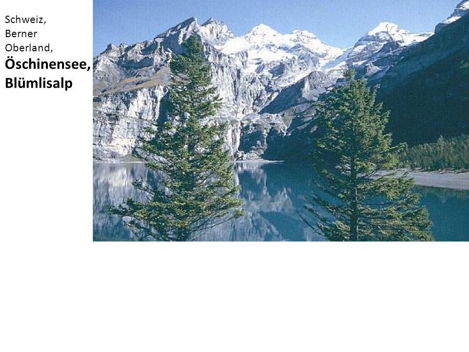 Schweiz, Berner Oberland, Öschinensee, Blümlisalp