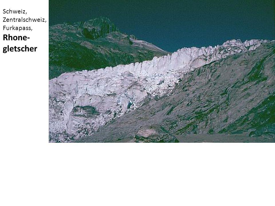 Schweiz, Zentralschweiz, Furkapass, Rhone- gletscher