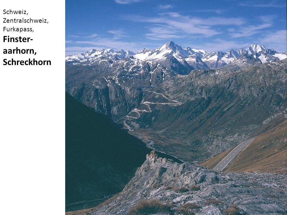 Schweiz, Zentralschweiz, Furkapass, Finster- aarhorn, Schreckhorn