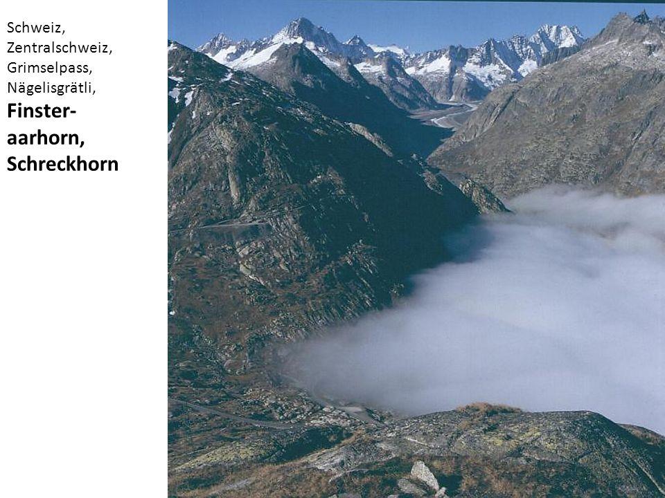 Schweiz, Zentralschweiz, Grimselpass, Nägelisgrätli, Finster- aarhorn, Schreckhorn