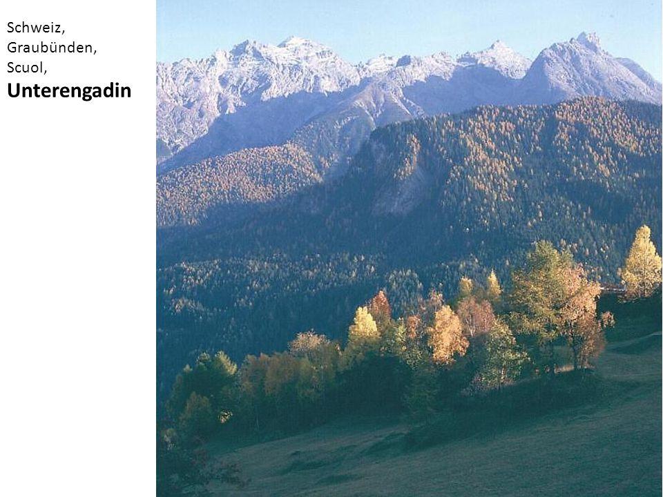 Schweiz, Graubünden, Scuol, Unterengadin