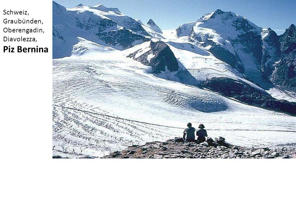 Schweiz, Graubünden, Oberengadin, Diavolezza, Piz Bernina