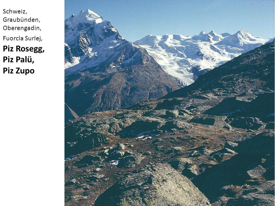 Schweiz, Graubünden, Oberengadin, Fuorcla Surlej, Piz Rosegg, Piz Palü, Piz Zupo