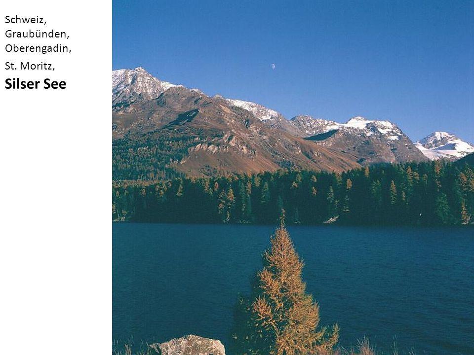 Schweiz, Graubünden, Oberengadin, St. Moritz, Silser See