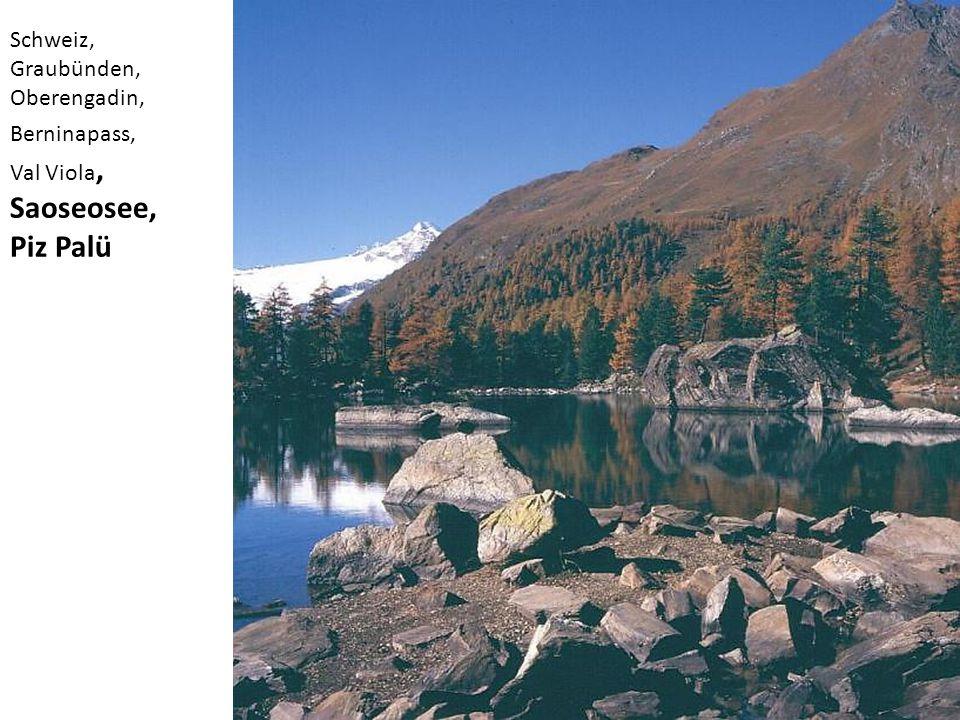 Schweiz, Graubünden, Oberengadin, Berninapass, Val Viola, Saoseosee, Piz Palü