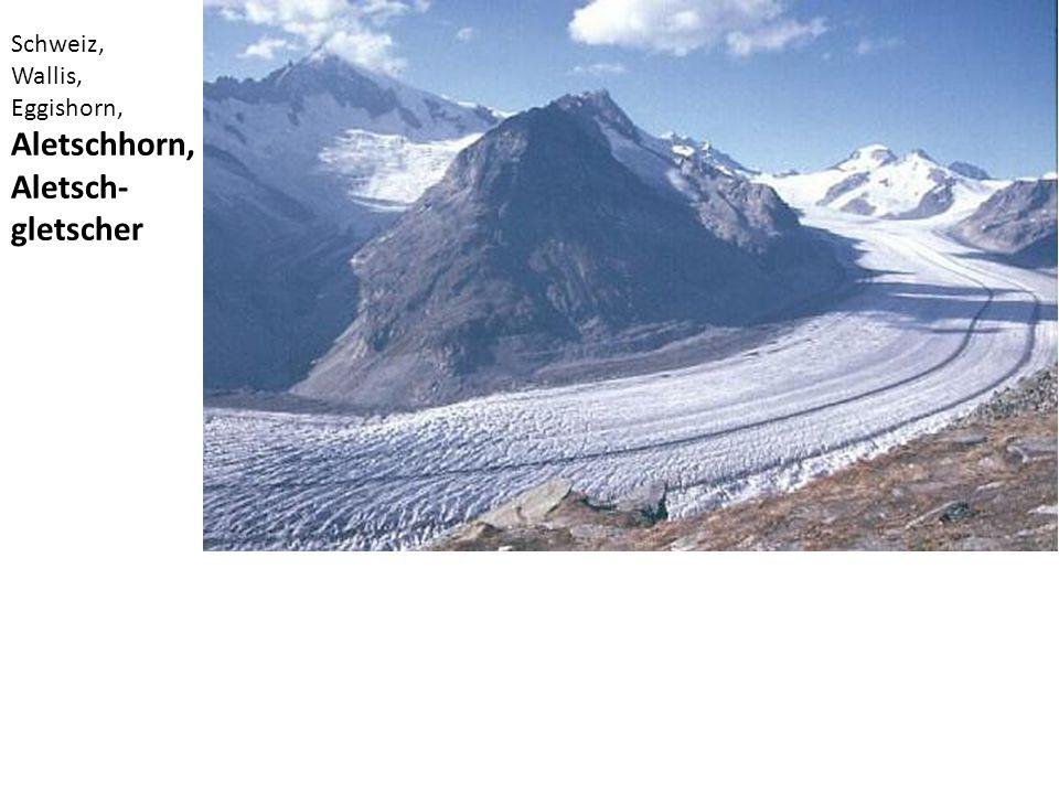 Schweiz, Wallis, Eggishorn, Aletschhorn, Aletsch- gletscher