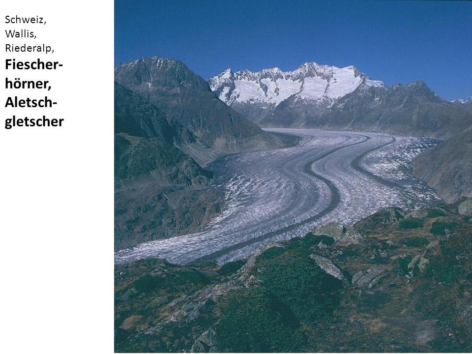 Schweiz, Wallis, Riederalp, Fiescher- hörner, Aletsch- gletscher