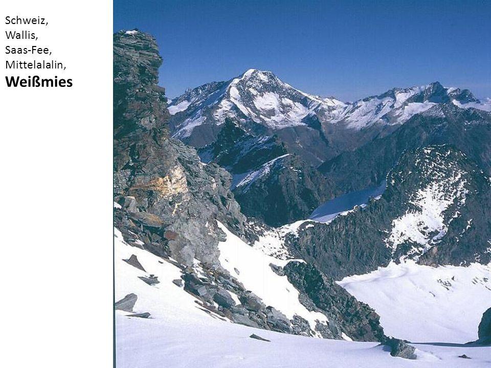 Schweiz, Wallis, Saas-Fee, Mittelalalin, Weißmies