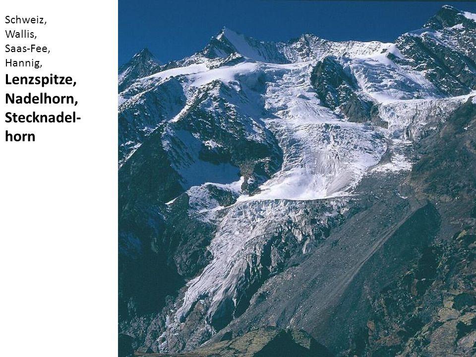 Schweiz, Wallis, Saas-Fee, Hannig, Lenzspitze, Nadelhorn, Stecknadel- horn