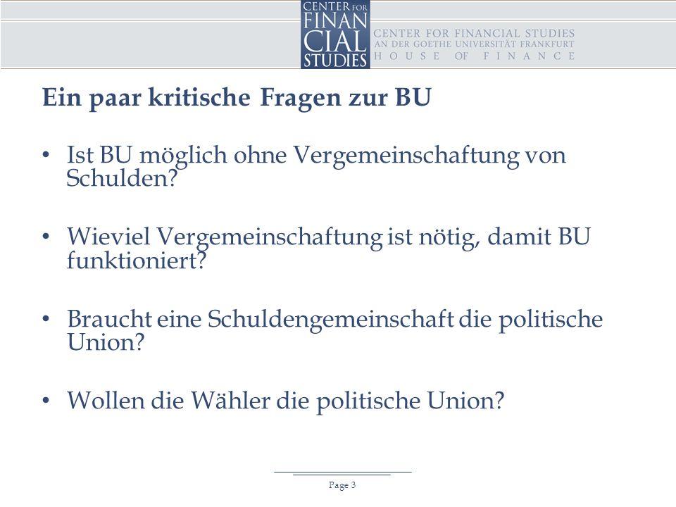 Ein paar kritische Fragen zur BU Page 3 Ist BU möglich ohne Vergemeinschaftung von Schulden.