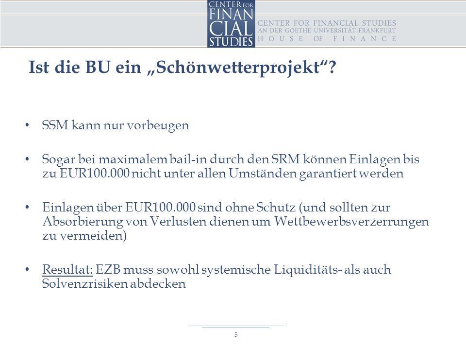 """Ist die BU ein """"Schönwetterprojekt ."""