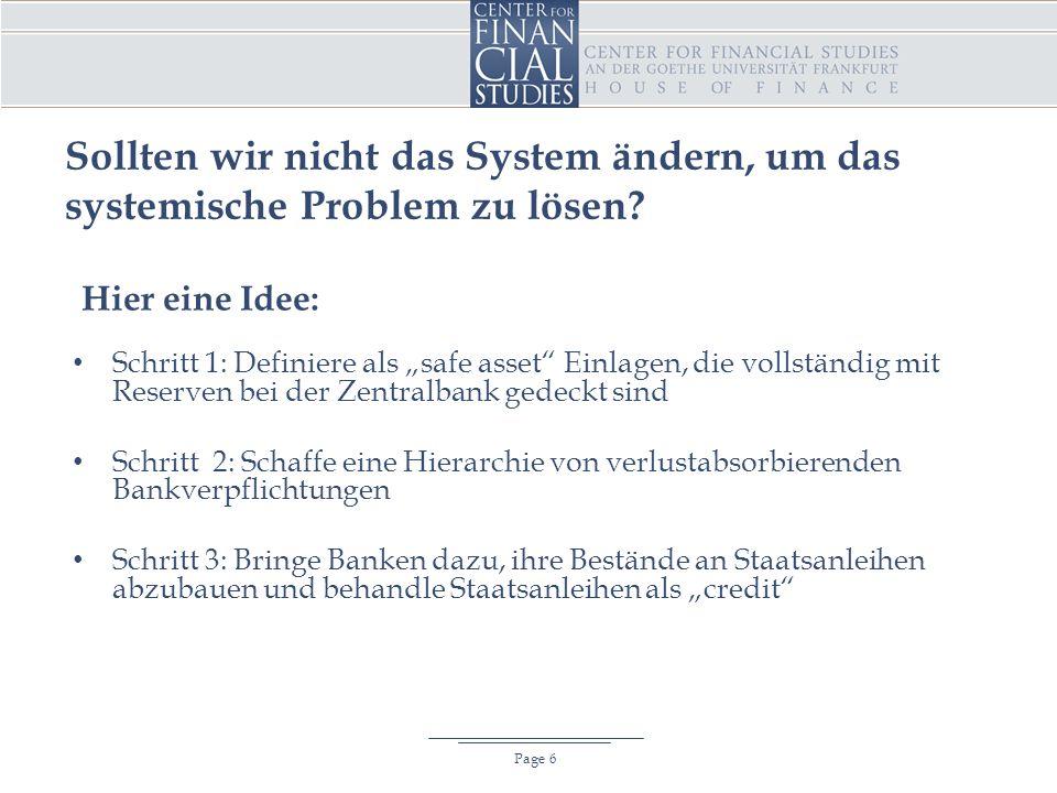 Sollten wir nicht das System ändern, um das systemische Problem zu lösen.