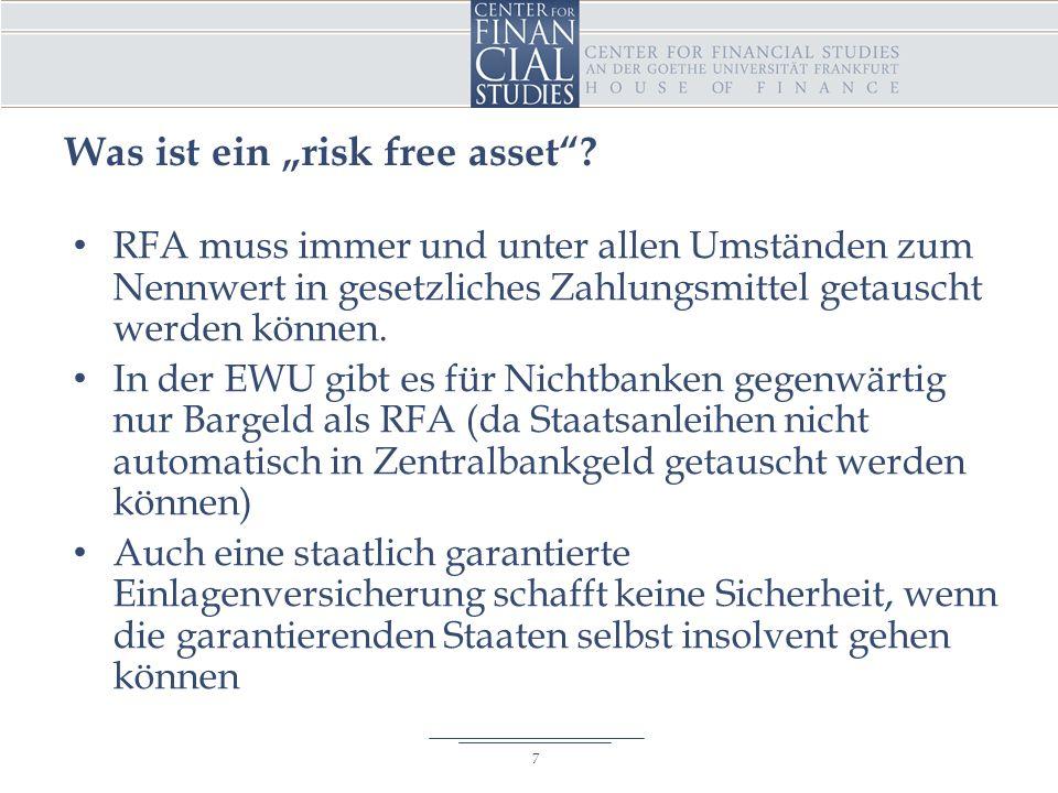 """Was ist ein """"risk free asset ."""