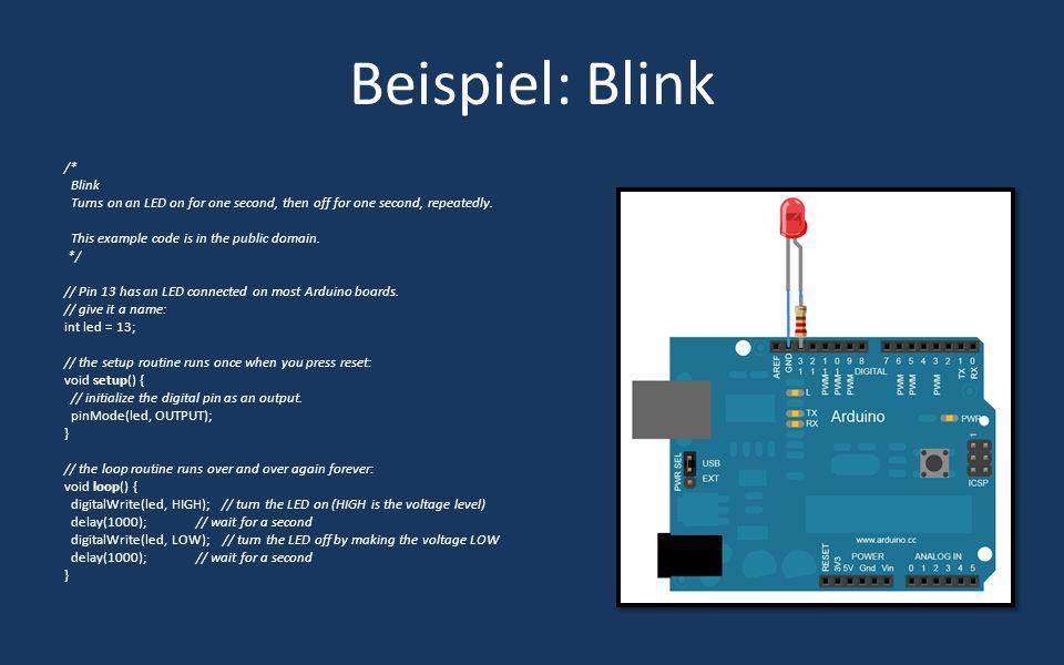 Beispiel: Wetterstation/Sender Arduino mit Atmega328p ersetzt Nächster Schritt des Prototyping Microcontroller mit Temperatur-, Luftdruck- und Luftfeuchtigkeitssensor Billigere Komponenten