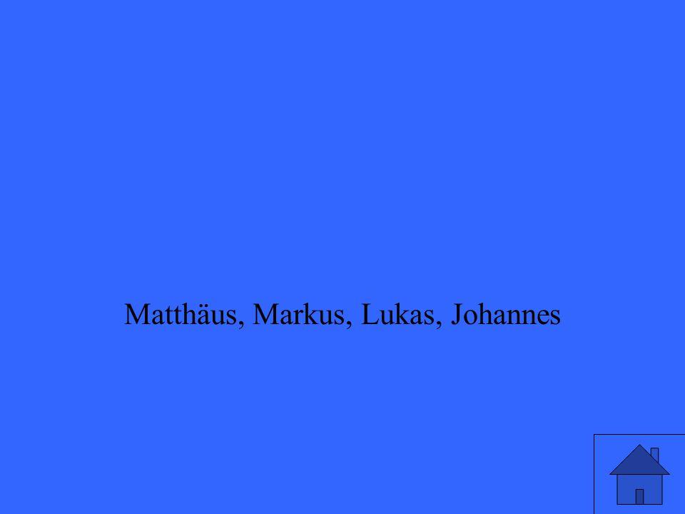 Matthäus, Markus, Lukas, Johannes