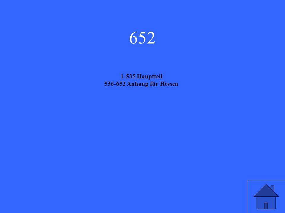 652 1-535 Hauptteil 536-652 Anhang für Hessen