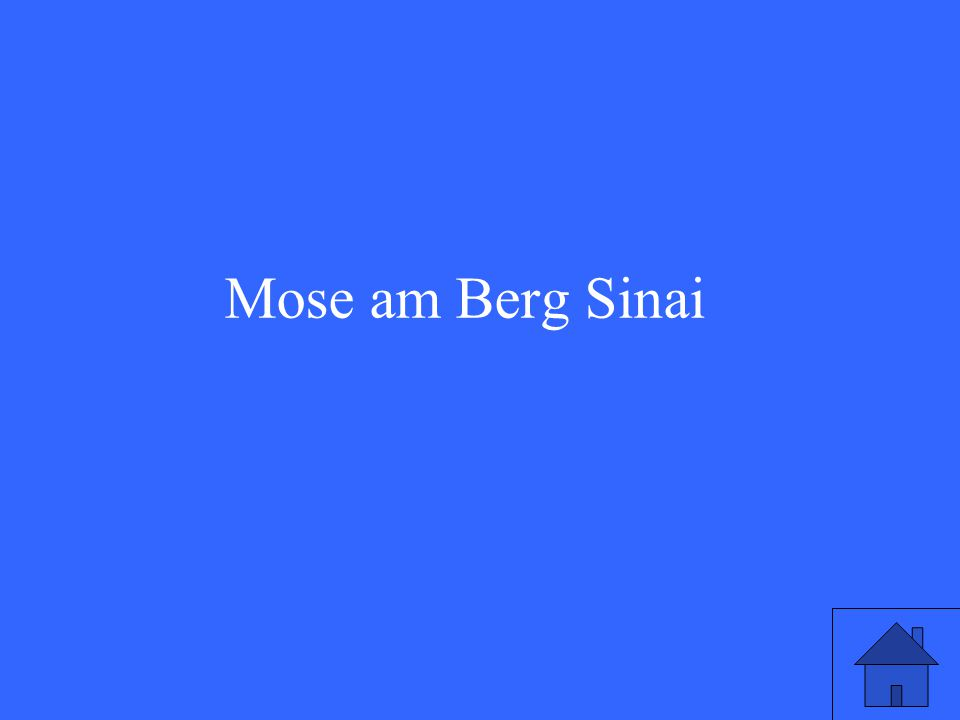 Mose am Berg Sinai
