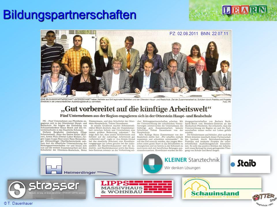 Bildungspartnerschaften PZ: 02.08.2011 BNN: 22.07.11 © T. Dauenhauer