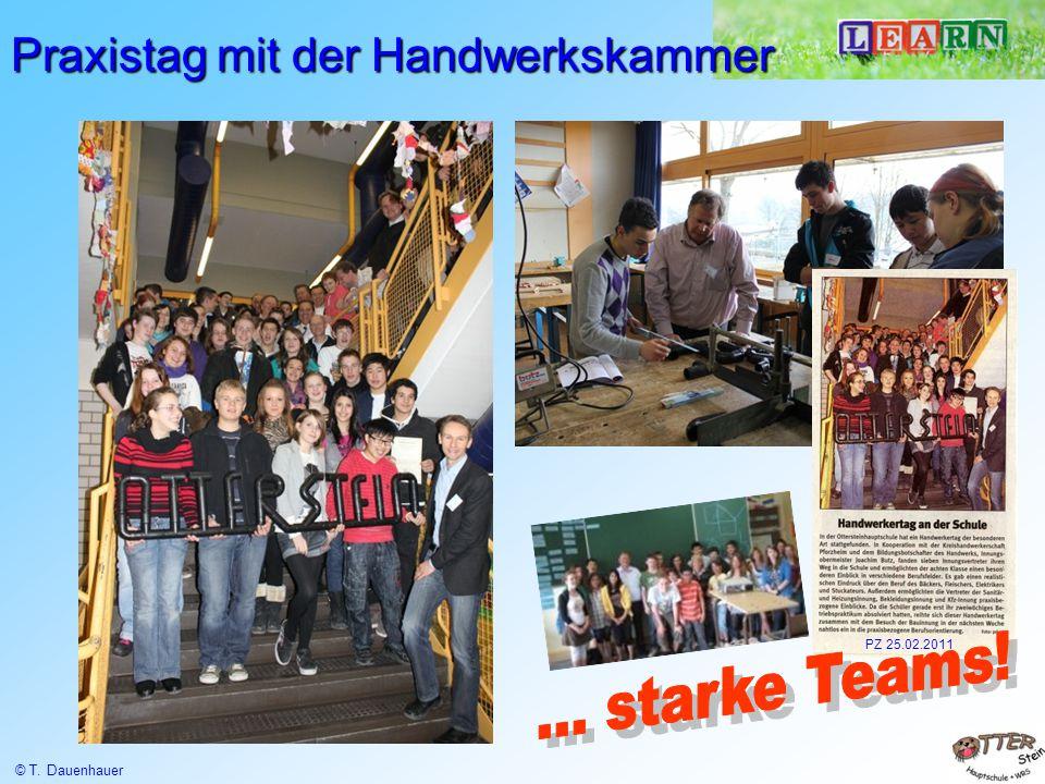 Praxistag mit der Handwerkskammer PZ 25.02.2011 © T. Dauenhauer